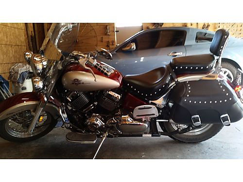 2003 YAMAHA V-STAR RS maroon metallic wsilver  gray Saddle Bags Trickle Charger Helmet more ac