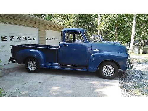 1954 CHEVROLET PICK-UP Blue 5 Window 400 Small Block auto Nova front  rear 4BBL Edelbrock Com