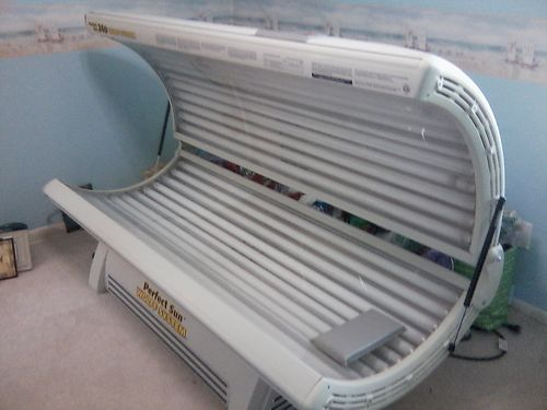 TANNING BED Wolf System Perfect Sun 24 bulb Privately owned rarely used 220v includes balliste