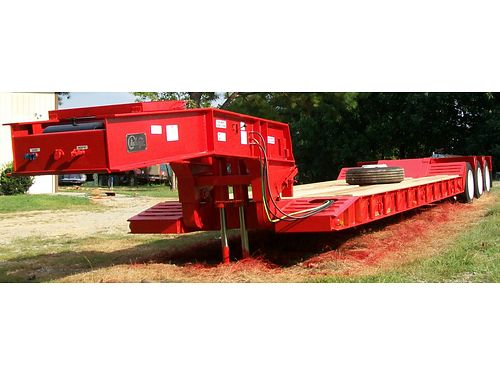 LOWBOY TRAILER 2000 WITZCO Challenger Model R650 100K lb capacity spring suspension 4710L x 8