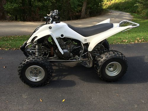 2013 YAMAHA RAPTOR 350 white 4-wheeler Model YFN35RDW 2wd wreverse cooler rack Nerf Bars fact