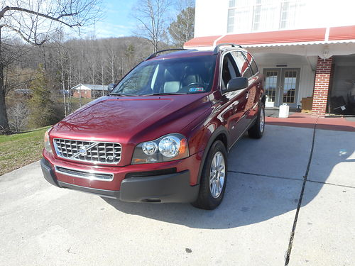 2005 VOLVO XC90 AWD Burgundy wleather V8 auto air all power sunroof CD 124k new tires  br