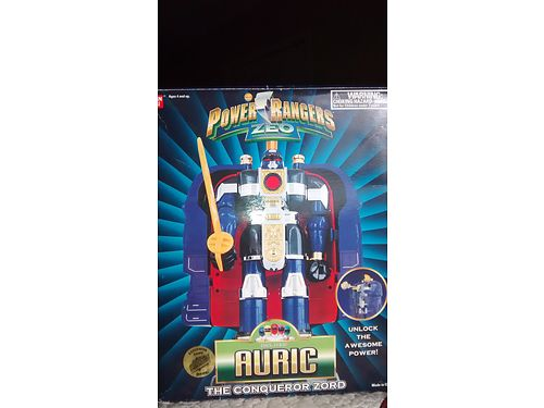 POWER RANGERS ZEO TOYS 1 Megazord 100 3 Deluxe Auric 45 each from 1996 all mint in box