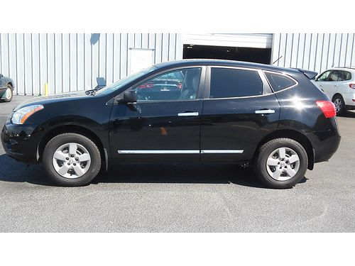 2013 NISSAN ROGUE S Black 4dr Rare Leather interior 25L 4cyl auto CD wi-Pod dock newer tires