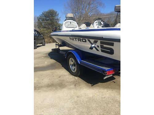 2010 NITRO X5 BASS BOAT 18 115hp Mercury Optimax motor wvery low hours still under warranty se