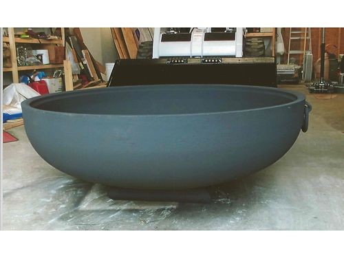 FIRE PIT Heavy Duty very heavy thick cast iron like a big soup bowl very durable roughly 31 a
