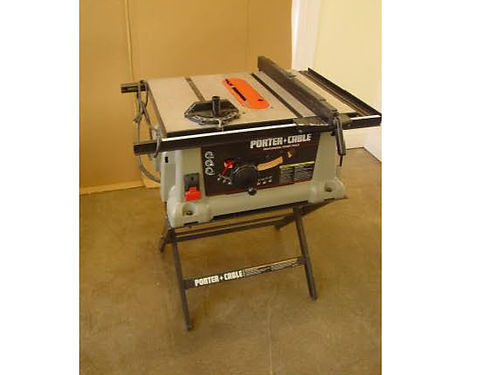 TABLE SAW 10 double insulated Bench Top Porter Cable table saw 150 865-556-6017 see photo at ww