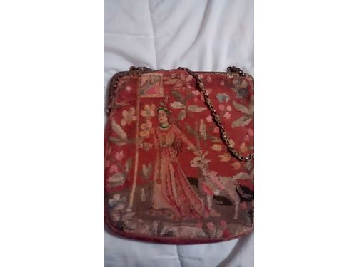 TAPESTRY HANDBAG Vintage very unique  beautiful 200 865-322-3337 see photo at wwwrecyclercom