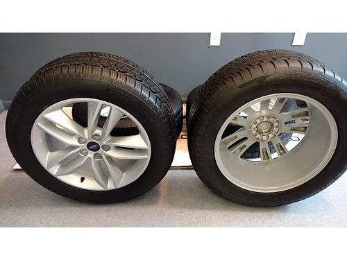 MAG WHEELS set of 4 Aluminum off 2016 Ford 5 lug 8w wCooper Zeon Tires 24555R18 like new