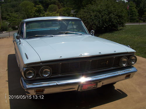 1964 FORD GALAXIE 500 FASTBACK Thunderbird Sky Blue 352 8cyl engine auto trans runs good new r
