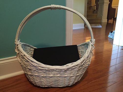 BASKET White Whicker 15 see photo at wwwrecyclercom 865-693-0213