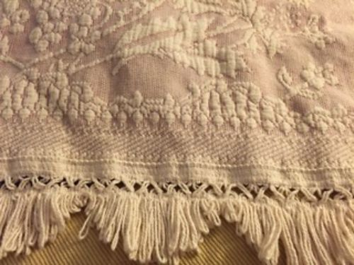 BEDSPREADS 2 Available Queen Size 1 by Bates Rose  Cream Queen Elizabeth pattern wfringe
