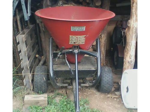 SEEDERSPREADER pull behind type for ATVMower or Tractor ground driven gear box used for saltsa