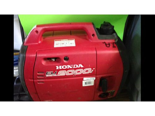 GENERATOR Honda Generator 2000 less than 100hrs use REDUCED to 700 865-318-5582 See photo at w