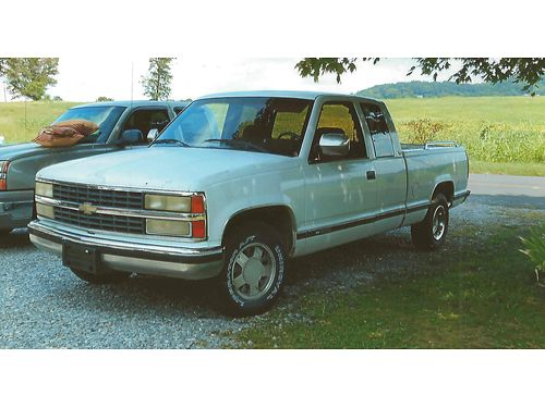 1992 CHEVROLET SILVERADO 1500 EXTENDED CAB Shortbed 2wd 350 V8 auto runs very well good work tru