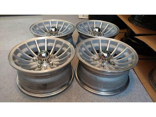 MAG WHEELS set of 4 Aluminum ET Turbine Uni-lug 14x x 7w fits Chevy S10 or Ford or Plymouth