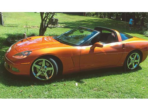 2007 CHEVROLET CORVETTE C7 wremoveable glass top Beautiful Atomic Orange 6spd manual leather a