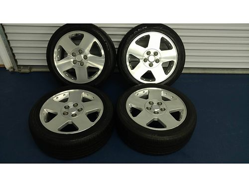 MAGS set of 4 GM Aluminum Mags 5 lug wNexen 21550R17 tires 90 rubber left like new fits GM