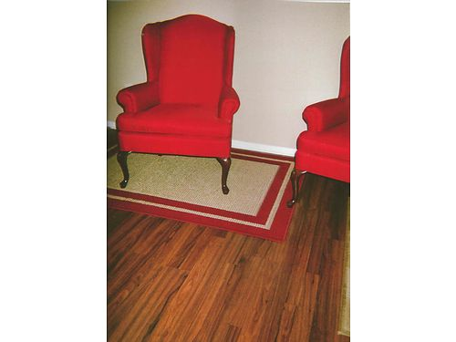 WING BACK CHAIRS 2 matching red wingback chairs exc cond 125 each 865-306-9914 calls only n