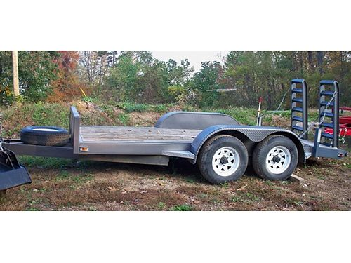 FLATBED TRAILER, 6X14 BED, DIAMOND PLATE FENDERS, ...