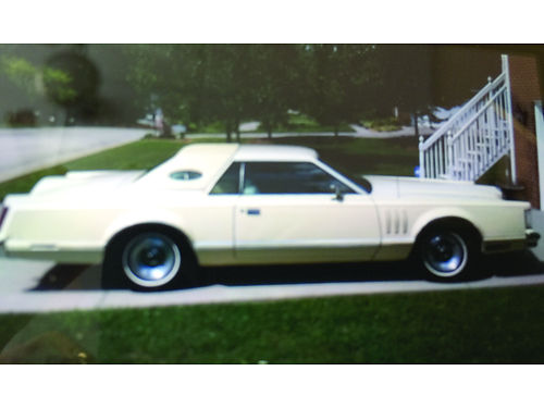 1978 LINCOLN MARK V Hard Top Triple pale yellow 460 engine new radial tires My mothers car sin