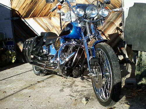 2004 HARLEY-DAVIDSON FXSTS SPRINGER 88ci motor carb 5spd Blue  Black paint 16k a head turner