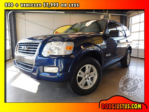 2008 FORD EXPLORER XLT 4wd Dark Blue Pearl Metallic wcloth 46L V8 auto all power more 163k