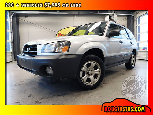 2005 SUBARU FORESTER X AWD Silver Metallic  Gray Opal wcloth 25L manual all power more 94k