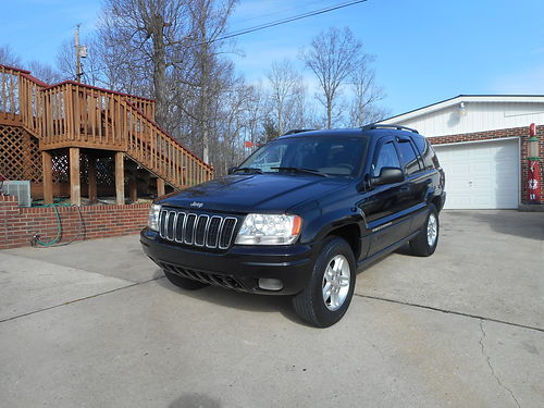 2003 JEEP GRAND CHEROKEE LAREDO 4wd40L auto air roof rack CDCass all power new tires  brak