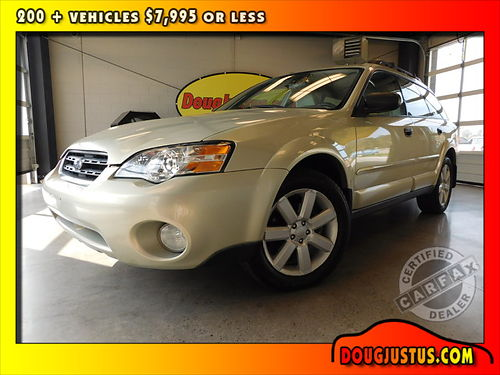 2006 SUBARU OUTBACK 25I Champagne Gold Opal 25L 4cyl manual dual heated seats all power air