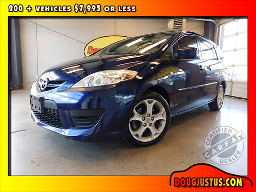 2009 MAZDA 5 SPORT Stormy Blue wblack cloth 23L 4cyl auto all power air more 136k Stock M4