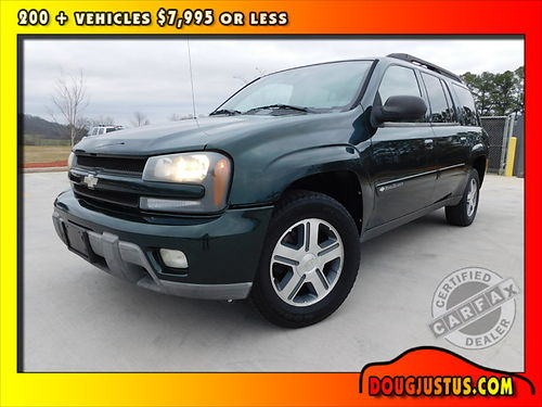 2004 CHEVY TRAILBLAZER EXT LT 4wd Dark Green Metallic wgray cloth Vortec 6cyl auto all power c