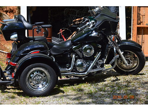 2003 KAWASAKI VULCAN 1500 black wVoyager Trike kit new tires  Mustang seat warmrest radio sa