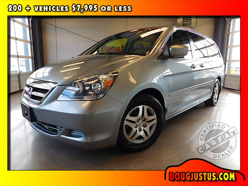 2007 HONDA ODDYSEY EX-L Ocean Mist Metallic wgray leather 35L V6 auto gets up to 26mpg Hwy All