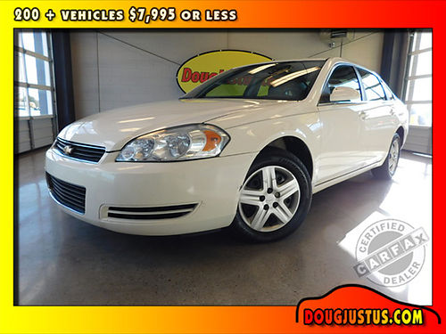 2008 CHEVROLET IMPALA POLICE White wgray cloth 39L V6 auto all power air more 156k Stock C