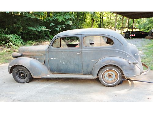1937 PLYMOUTH 2DR SEDAN P4 Edt 95 complete Original Drive Train 6cyl Flathead solid never ta