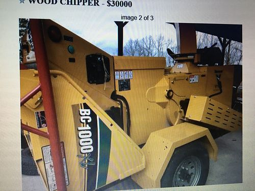 COMMERCIAL CHIPPER, 2016 VERMEER BC1000 XL, DEUTZ ...