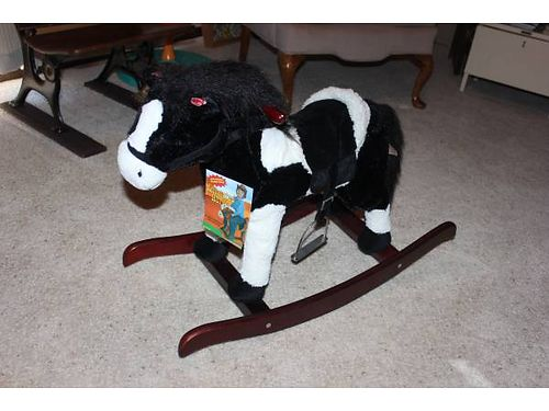 ANIMATED ROCKING HORSE by Dan Dee Collectors Choice Brand new never used beautiful black  white