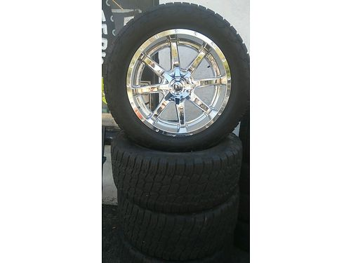 FUEL WHEEL 22 CHROME RIMS wTires Set of 4 8 Lug 2000 obo  Other Size Rims Also Available from