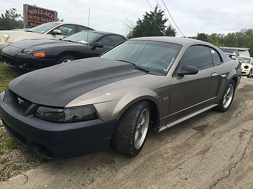 2001 FORD MUSTANG GT gold  black 1703 4900 WALLACE AUTO SALES