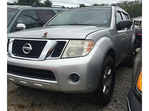 2008 NISSAN PATHFINDER 2WD silver 1706 4600 WALLACE AUTO SALES