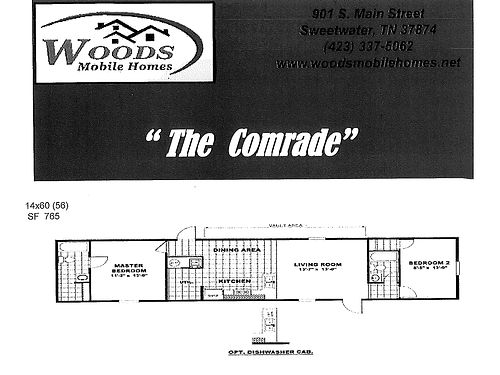 THE NEW COMRADE HOME has 2 bedrooms and 2 full baths Priced at only 29900 Come check out the Com