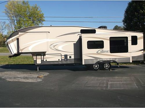 2016 COUGAR 325RPS 5TH WHEEL New Unit Sleeps 10 3 Slides Power Awning Remote Power Leveling Jac