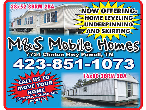 M  S MOBILE HOMES Nice Used Homes To Fit ANY Budget Stop By  Check Our Inventory We Do Decks Fo