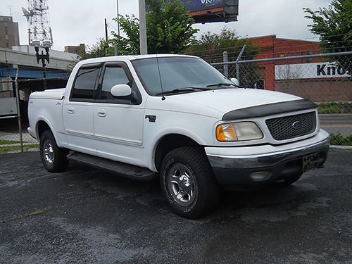 2001 FORD F150 4dr 4x4 white nice truck runs good looks good v8 auto loaded leather high mi