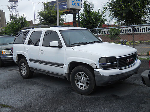 2002 CHEVY TAHOE Z71 white runs  looks good 4dr 4x4 v8 auto loaded leather high miles 3500
