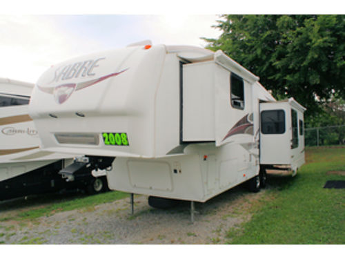 2008 PALOMINO SABRE 31 REDS wSlideouts Sleeps 4 Air full kitchen bath wskylight over shower