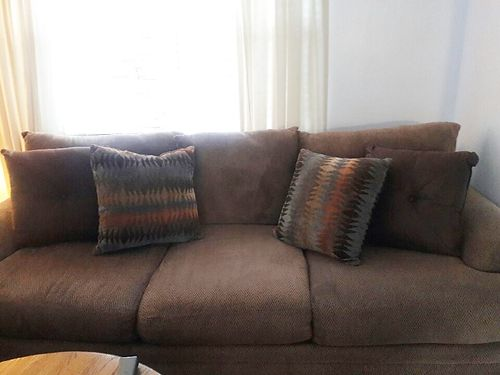 COUCH From Ashley Furniture 7 Long Deep Scotch Guarded Exc Cond Less Than  6mo Old 600