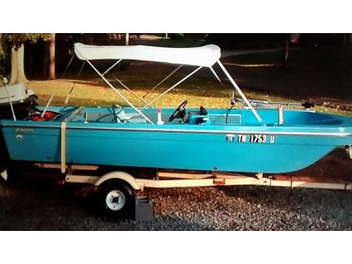 1970 FABUGLAS FISHING BOAT Super Seahorse 40hp Johnson Super Seahorse 6hp trolling motor Electric