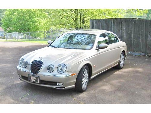 2003 JAGUAR S-TYPE Topaz wLeather Fully Loaded Sunroof Premium Sound System 133k new brakes